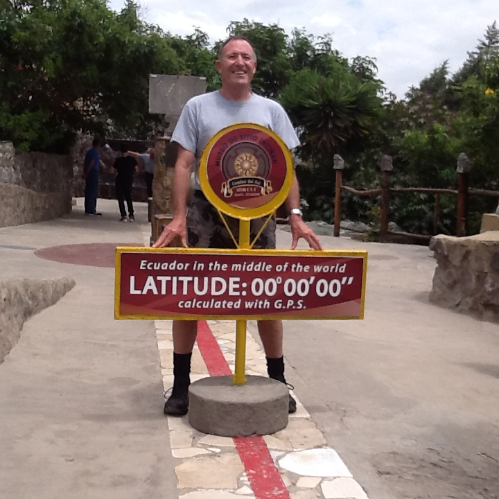 Standing on the equator in Ecuador Feb2016