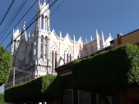 French Gothic basilica, Guanajuato Mexico, July 2016