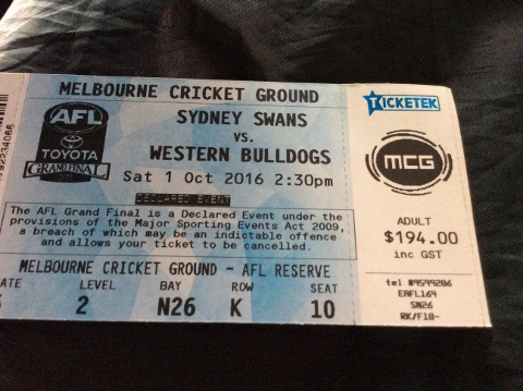 AFL game October 2016