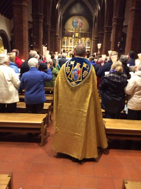 Donated gold cope at Walsingham October 2016