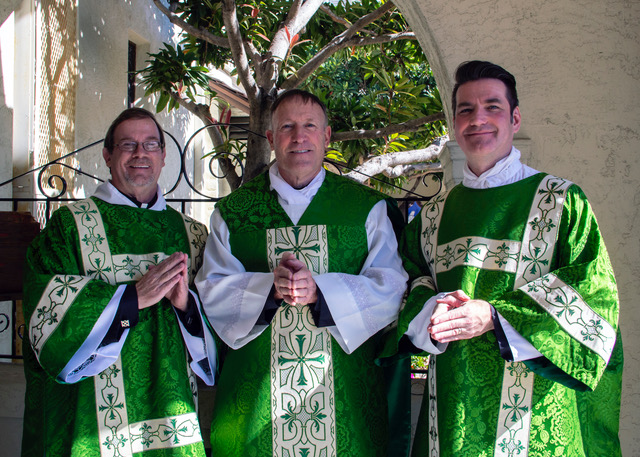 Celebrating at All saints' San Diego November 18, 2018