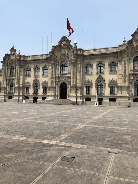 Walking in City Square of Lima 19 JAN 2019