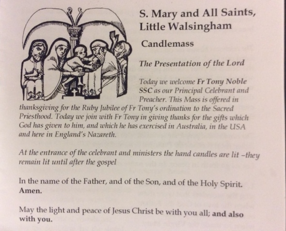 40th-ordination celebration Walsingham