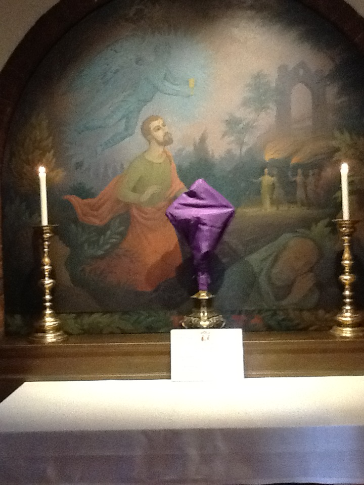 Holy Week 2015 in Walsingham Chapel of the Agony of Christ